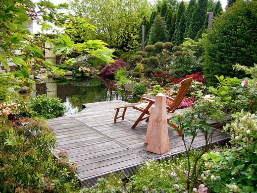 Garten mit Wasser GaLaBau Menzel