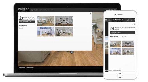 Parketthaus Scheffold Room Designer Schritt 1