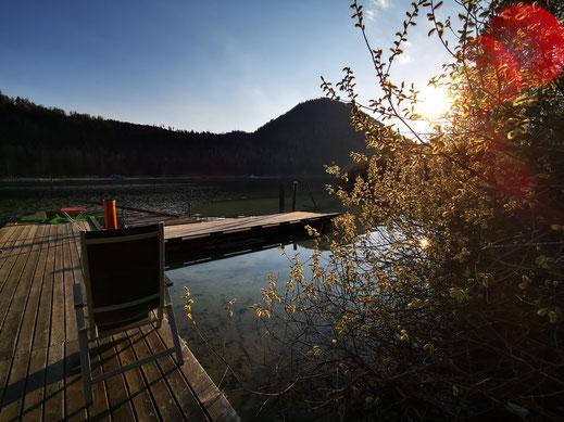 Bild: eigener Zugang zum Erlaufsee/Sportanlage Digruber