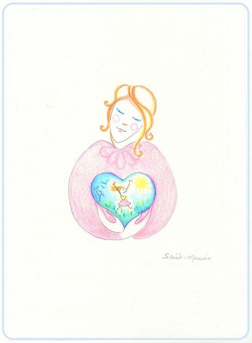 enfant interieur, severine saint-maurice, lescerclesdelumiere.com, crayon de couleur, dessin