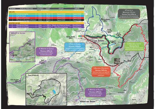 Parcours de trail aux aisies - Savoie