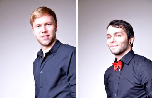 Jörn Wolters und Alexander Peter Noll machen Live Musik