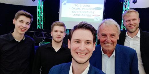 Gruppenselfie Jörg Wontorra Tom Wolf SV Vorwärts Nordhorn