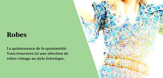 Robes vintage pour femmes des années 1920, 1930, 1940, 1950, 1960, 1970, 1980, 1990. Des robes de marques de luxe vintage, faite à la main.