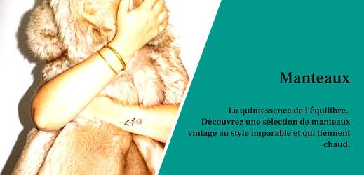 Manteaux vintage pour femmes en laine, en fourrure et fausse fourrure, en cachemire. Des manteaux d'hiver qui tiennent chaud.