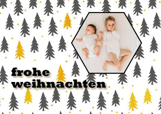 weihnachtskarten von babykartenshop