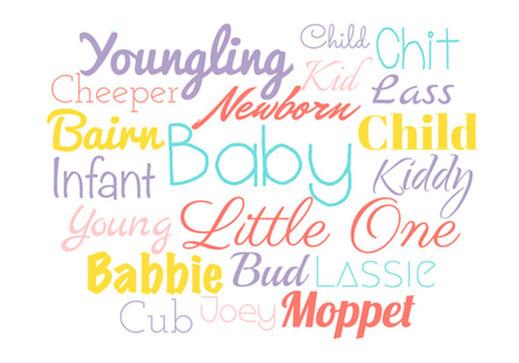 Babykartenshop Schriften