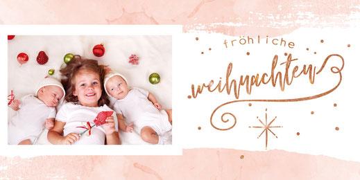 weihnachtskarte von babykartenshop für die Familie