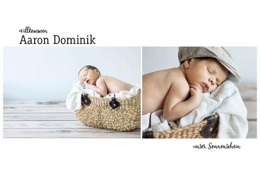 Babykarte Bub bestellen