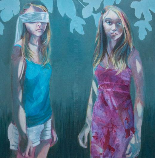 Second youth  - 100 cm x 100 cm - technique mixte sur toile - Oeuvre de Victoria Milroy