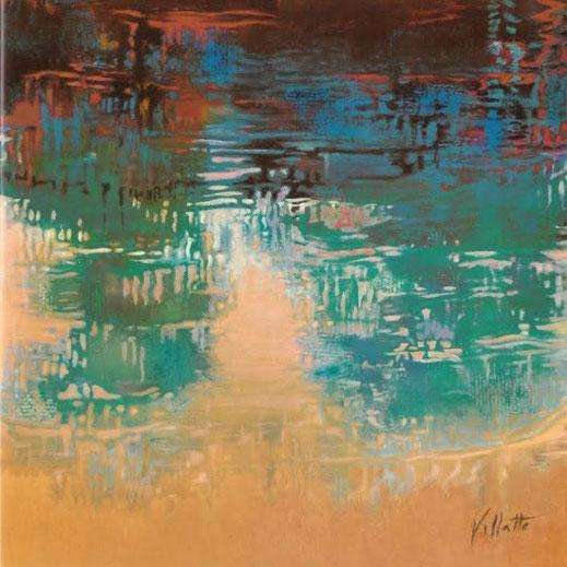 """""""Nuages d'eau"""", peinture sur toile/châssis -1x1 m"""