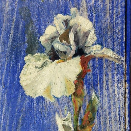 Légende : « L'anamour », technique mixte sur bois 26 x 16 cm. Didier L.Estrabaut