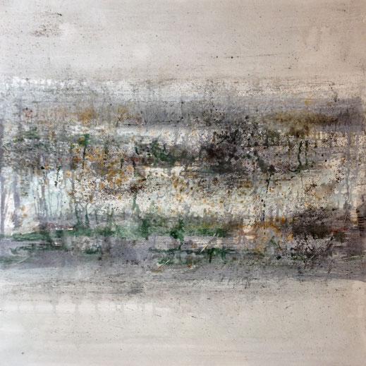 Légende : ÔM n°21, 60cmx60cm, pigments et encres, 2017. Audrey Roccaro.