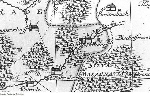 Bild: Seeligstadt Älteste Karte Massenei