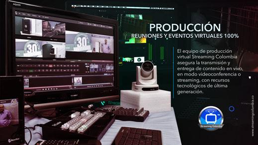 Nuestros equipos virtuales Streaming Colombia, aseguran la transmisión y entrega de contenidos durante sus videoconferencias o streaming.