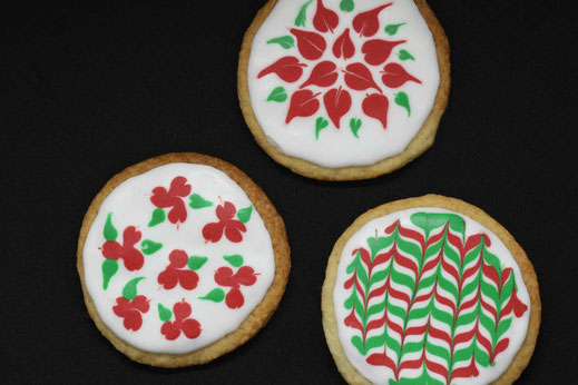 christmas pattern cookies