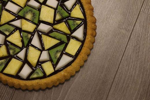 Mosaik-Obstkuchen