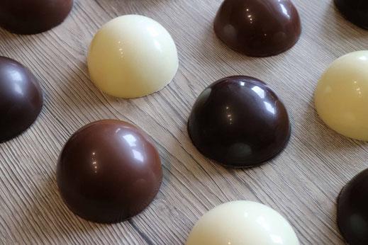 halfe chocolate spheres