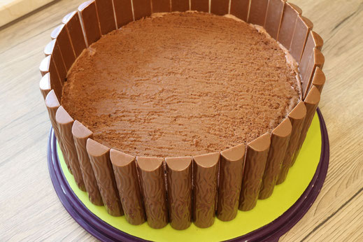 chocolate cake in the style of a tray