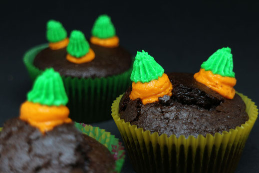 carrot cupcakes - last minute Easter treat
