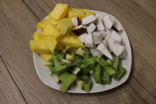 Früchte für Mosaik Obstkuchen