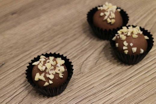 Marzipan Amaretto chocolate truffles