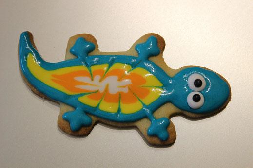 türkiser Salamander Keks