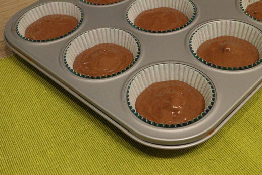 chocolate cupcakes ready for baking