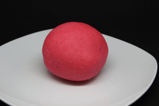 pink dyed marzipan
