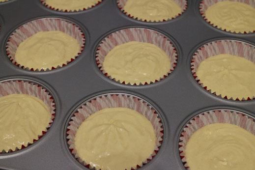 ungebackene Cupcakes
