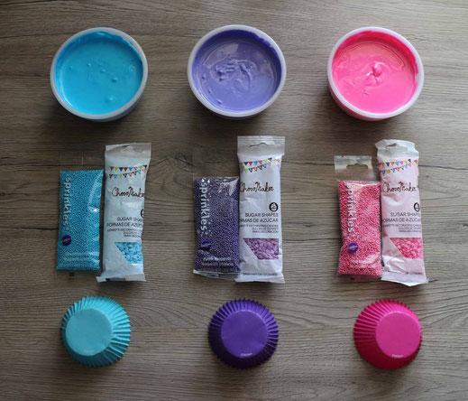 Material für Ballon Cupcakes