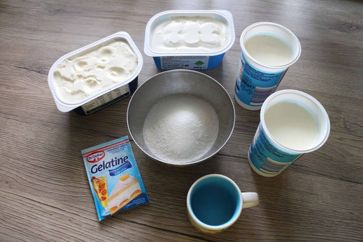 ingredients for cheesecake