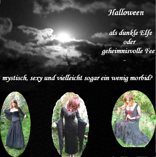 Halloween als dunkle Elfe oder geheimnisvolle Fee - mystisch, sexy und vielleicht sogar ein wenig morbid?