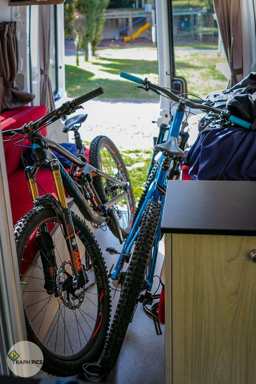 Neuseeland Bike im Camper