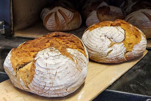 Frisches Brot aus dem Steinbackofen unserer Hausbäckerei