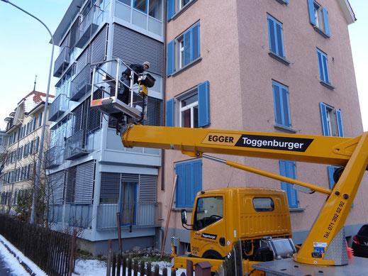 Kranarbeiten Stefan Müggler GmbH Rohrbogen Rillendillas Taubengitter