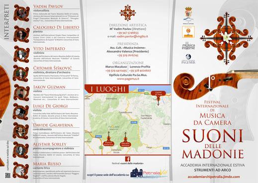 """Locandina Festival Internazionale """"Suoni delle Madonie"""" 2016"""