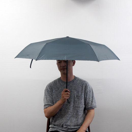 親骨サイズ55cmの傘、比較すると少し小さく感じます