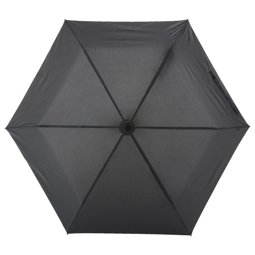 一般的な折りたたみ傘は骨が6本