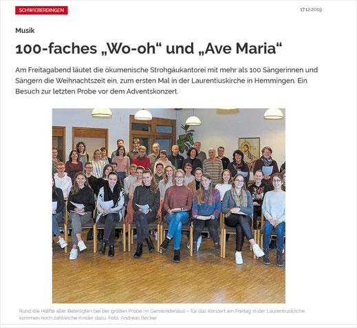 Ludwigsburger Kreiszeitung vom 16. Dezember 2019