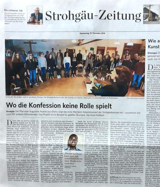 Stuttgarter Zeitung vom 19. Dezember 2019