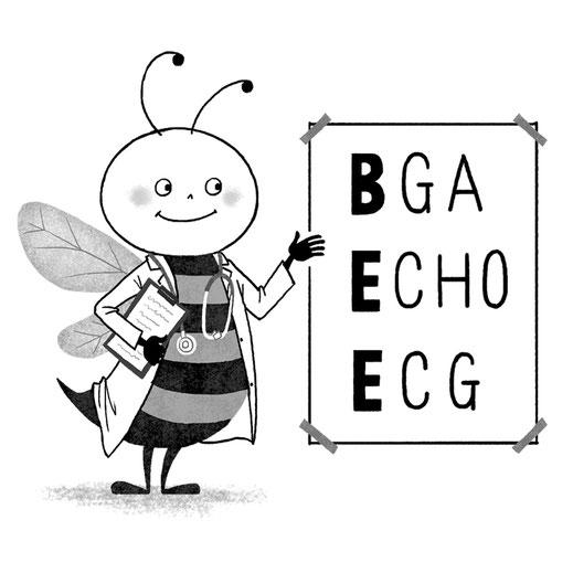 蜂の先生のキャラクターイラスト