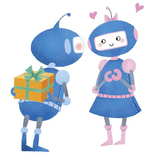 中央労金のキャラクターロボットイラスト