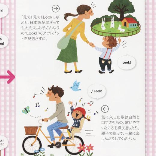 親子 英語学習 イラスト