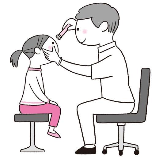 子ども 目の検査 イラスト