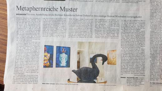 Artikel in der FAZ über die Ausstellung Sabine Dehnel – LebensVasen, März 2021