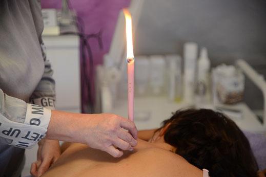 Spirit Light Körperkerzen Anwendung bei Cosmetic Heidi Schwaiger in Salzburg