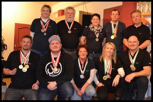 Die Teilnehmer der SG-Dornbirn auf der Bezirksmeisterschaft Rheintal 2017