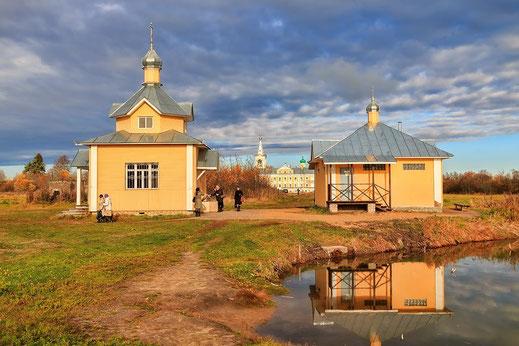 Живоносный источник с родоново-минеральной водой в Введено-Оятском монастыре - целитель многих болезней и недугов.