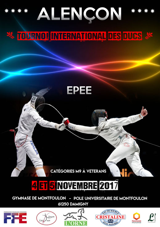 Affiche officielle du tournoi internationale des ducs d'alençon